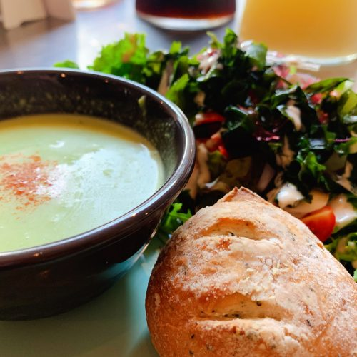 海藻サラダ&ポタージュスープ